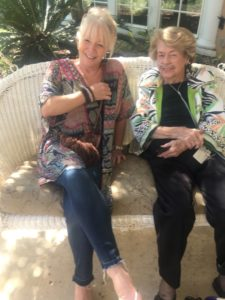 Clarity Hospice volunteer, Laura Lombardo, with patient Susan Ottinger