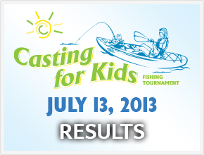 Casting for Kids 2013 Results